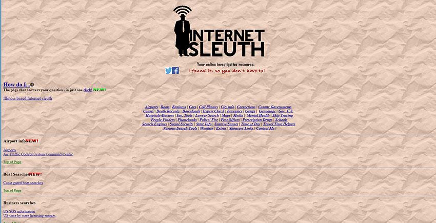 Internet sleuth