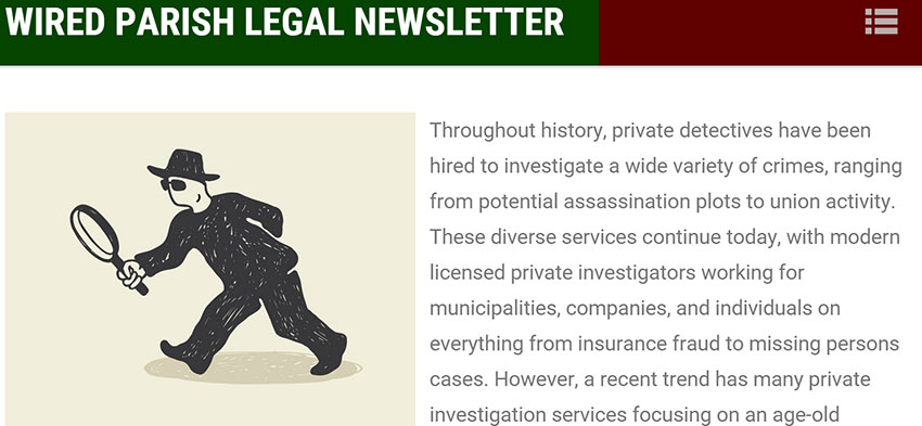 Wired parish legal newsletter
